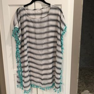 Sheer  swimsuit cover-up